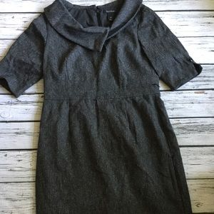White House Black Market Grey Collared Dress 14